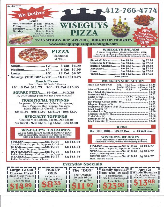 Wise guys pizza coupons orange